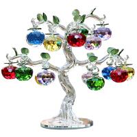 水晶苹果树摆件圣诞节礼物创意客厅电视酒柜摇钱树装饰工艺品