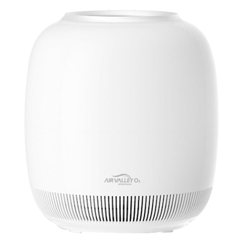 异亮(Air Valley-O2)空气沁化器 空气净化器 加湿 家用办公 智能app手势操控(白/金) 购买请备注留言 金色或银色;支持手机遥控