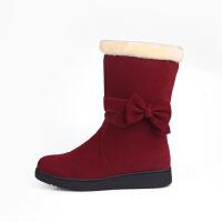 №【2019新款】冬天小朋友穿的儿童冬靴女童靴子加绒中筒靴大童女学生童鞋女童雪地靴小女孩棉靴