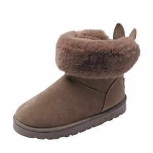 WARORWAR新品YM13-666冬季韩版平底舒适兔耳朵女士雪地靴