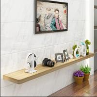 实木置物架墙壁一字隔板电视机顶盒搁板客厅壁挂背景墙装饰架定制