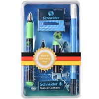 德国进口施耐德(Schneider)钢笔 Inx Sportive运动套装绿色款(F尖+改错笔1支+墨胆1盒+走珠笔头