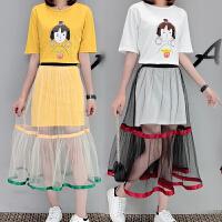 少女中大童闺蜜套装连衣裙夏季两件套裙子夏天