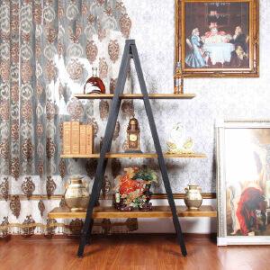 幸阁 书架置物架 彩色铁艺A字多层架 北欧ins创意铁艺 绿萝吊兰多肉植物简易手工DIY收纳装饰壁挂柜