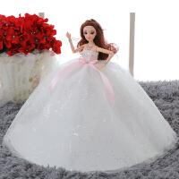 换装芭比娃娃婚纱女孩公主套装大礼盒单个洋娃娃儿童节生日礼物 35厘米无礼品袋