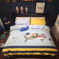 新品秒杀可爱儿童四件套纯棉男孩床上用品三件套床单被套全棉卡通高低床品