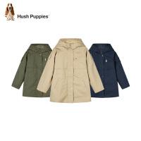 【2件5折价:256元】暇步士童装男童中大童冬季新款厚风衣纯色连帽中长新款风衣
