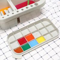 多功能洗笔筒调色盘颜料盒水粉水彩国画美术水桶涮笔筒洗笔器