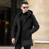 №【2019新款】冬天中老年人穿的2018冬季新款中年男士羽绒服40岁50中长款加厚爸爸外套