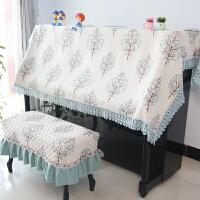 0722075948644蕾丝钢琴半罩欧式刺绣花盖巾布艺全罩钢琴防尘套韩国加厚钢琴凳罩