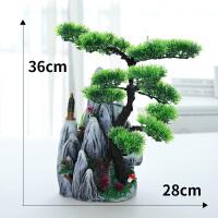 仿真绿植物盆景迎客松松树盆栽假花摆设装饰客厅迷你室内小摆件