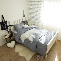 ???床上三件套学生宿舍女生高低单人床卡通被套0.9/1.2m儿童寝室床单 灰色 北极熊
