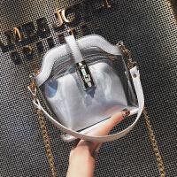 透明包包女2018新款女包链条斜挎包ins超火单肩水桶小包子母包潮