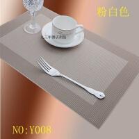 餐垫酒店台垫防滑欧式杯垫防烫布艺西餐厅PVC桌垫循环餐盘垫