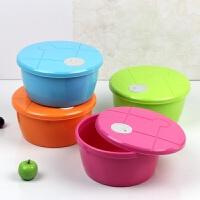 彩色塑料盒微波炉饭盒保鲜碗泡面碗保鲜盒外卖打包盒 颜色随机