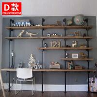美式工业风实木一字隔板ins墙上创意置物架墙壁挂墙铁艺木板