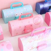 创意密码文具盒小学生笔盒网红多功能学霸铅笔盒韩国卡通可爱女孩新款儿童男孩大容量小清新带锁幼儿园文具盒