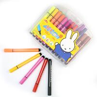 晨光12色18色24色三角杆水彩笔 可水洗绘画彩笔 米菲系列儿童涂鸦画笔12支18支 24支/盒