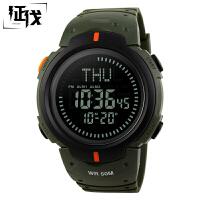 征伐 指南针手表 时尚防水电子指南针手表男士户外运动多功能跑步旅行爬山登山学生腕表式运动表