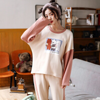 春秋睡衣女长袖韩版少女清新日系卡通甜美学生外穿家居服套装