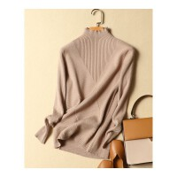 秋冬新款短款半高领毛衣打底衫女长袖韩版套头修身显瘦女士针织衫