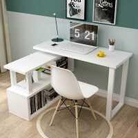 旋转电脑桌简约台式转角连体书桌柜现代时尚烤漆书架组合办公桌子