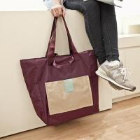 折叠旅行包防水布购物袋行李袋女单肩手提包定制印logo标志