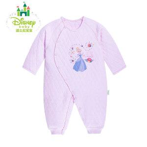迪士尼Disney婴儿连体衣 宝宝冬装侧开扣哈衣婴儿连体衣154L657