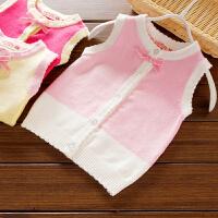 女童毛线马甲新款韩版儿童针织衫开衫女宝宝毛衣婴儿背心春秋