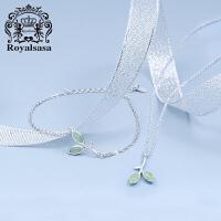 皇家莎莎S925银项链手链套装小清新日韩锁骨链银饰品首饰吊坠生日礼物