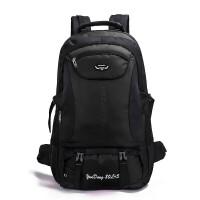 背包男士双肩包旅行包女户外轻便旅游行李包徒步防水大容量登山包 黑色 85升
