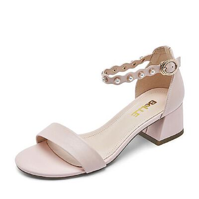Belle/百丽专柜同款夏胎牛皮革女皮凉鞋BGFA2BL7