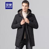 「狂欢!一件3折到手价:581」Romon/罗蒙羽绒服男冬季新款中长款连帽厚款中老年时尚保暖外套男