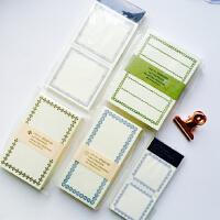 仓敷意匠日本画室凸版印刷复古拼贴边框便签本蓝色橄榄绿棕色便条