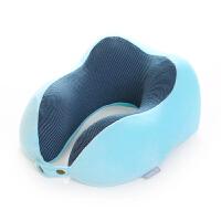 记忆护u型枕飞机枕头旅行坐车护颈椎枕户外便携s6 浅蓝色