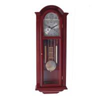 北极星铜机芯实木机械挂钟报时中式欧式客厅老式风水摇摆钟 其他