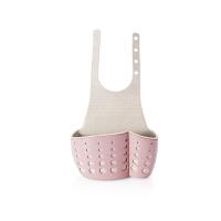 创意水槽沥水挂篮可调节厨房小用品海绵布收纳置物架子水龙头挂架