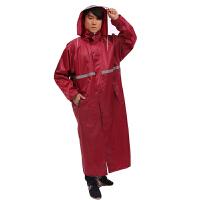 加长加厚款透气户外风衣雨衣双层男单人大帽檐徒步连体雨披 X