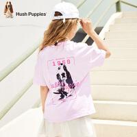 【抢购价:69元】暇步士童装女童短袖夏季新款儿童T恤套头薄款潮中大童圆领衫