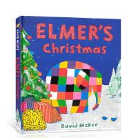 【全店300减100】英文原版 Elmer's Christmas 圣诞节绘本 儿童英语启蒙读物 进口正版图文本 亲子教