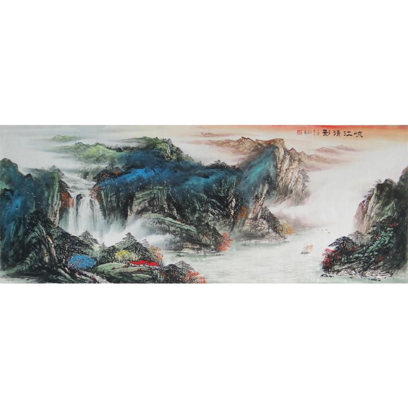 青年画家  王晶   峡江清影