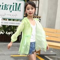 儿童外套女童防晒衣中长款薄款空调衫中大童装女宝宝韩版夏季透气