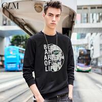 【森马旗下】GLM男士卫衣青少年潮流字母印花套头卫衣休闲时尚潮