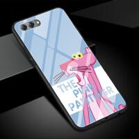 小米6钢化玻璃壳小米六手机壳保护套硅胶粉红顽皮豹少女心生款可