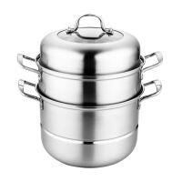 蒸锅304不锈钢三层加厚多层蒸笼馒头家用1层2层二层煤气灶用锅具