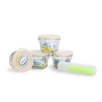 Glasslock 辅食盒 冷冻盒 辅食格冷冻格婴儿保鲜盒儿童宝宝4件套