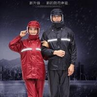 雨衣雨裤套装大面罩双层骑行雨衣男女电动摩托车外卖雨衣