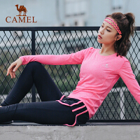 户外运动女款针织套装 T恤运动长裤跑步健身瑜伽服装