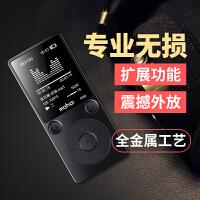 超薄无损MP3音乐播放器迷你学生英语学习复读机MP4便携随身听金属插卡触控按键HIFI小说电子书阅读器录音机收音机跑步