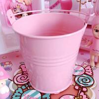 粉色迷你小铁桶家居装饰萌物多肉植物迷你小号种植小皮桶 28